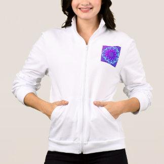 Estrellas psicodélicas, resplandor púrpura violeta chaquetas