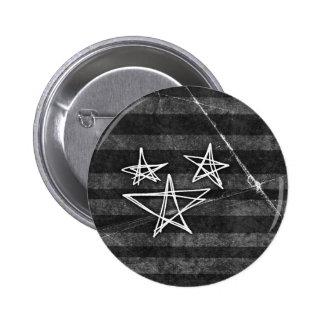 Estrellas punkyes pin redondo de 2 pulgadas