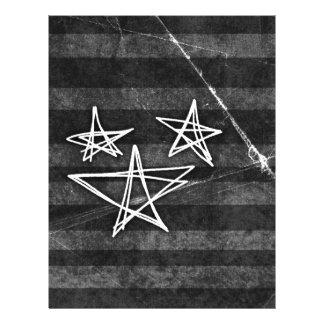 Estrellas punkyes plantillas de membrete
