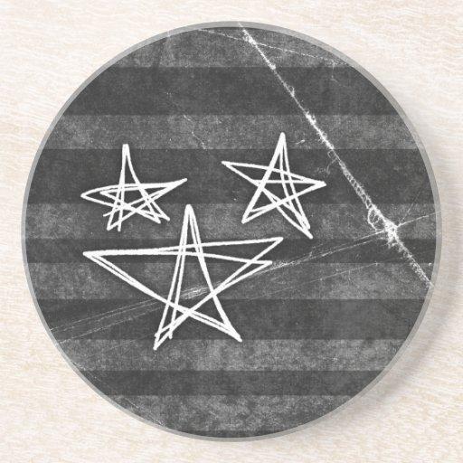 Estrellas punkyes posavasos manualidades
