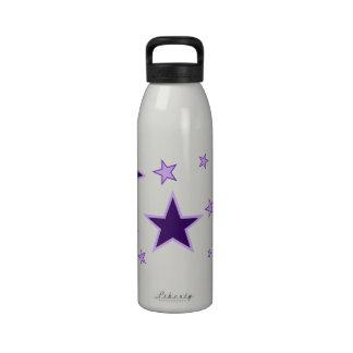 Estrellas púrpuras botellas de agua reutilizables