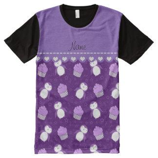 Estrellas púrpuras conocidas personalizadas de las playera con estampado integral