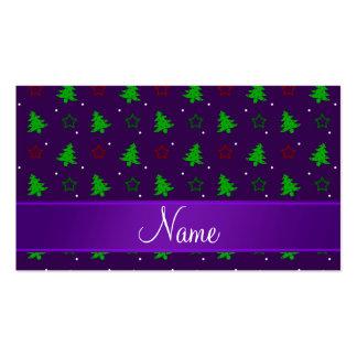 Estrellas púrpuras conocidas personalizadas del na tarjeta de negocio