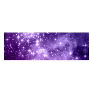 Estrellas púrpuras de la magia tarjetas de visita mini