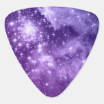 Estrellas púrpuras de la magia uñeta de guitarra