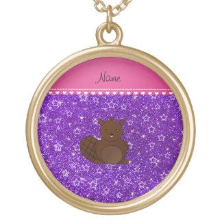 Estrellas púrpuras del brillo del añil conocido colgante