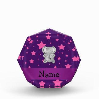 Estrellas púrpuras del rosa del elefante lindo
