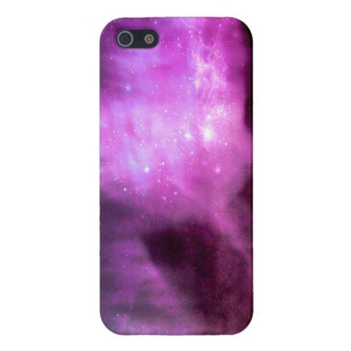 Estrellas púrpuras del rosa en espacio iPhone 5 carcasa