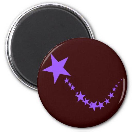 Estrellas púrpuras imán de frigorífico