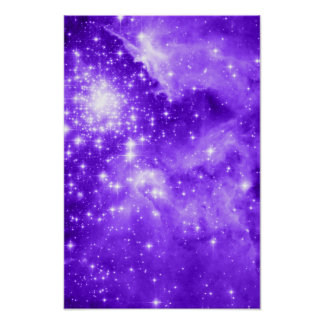 Estrellas púrpuras impresiones