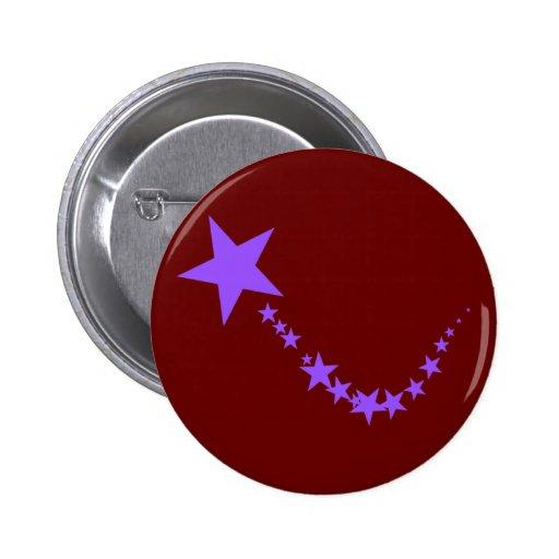 Estrellas púrpuras pin redondo 5 cm