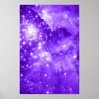 Estrellas púrpuras póster