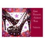 Estrellas púrpuras rosadas atractivas fabulosas de tarjetas de visita grandes