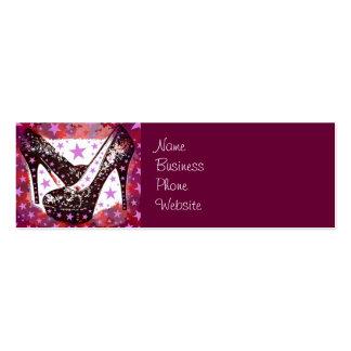 Estrellas púrpuras rosadas atractivas fabulosas de plantillas de tarjeta de negocio