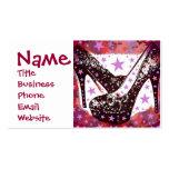 Estrellas púrpuras rosadas atractivas fabulosas de tarjetas de visita