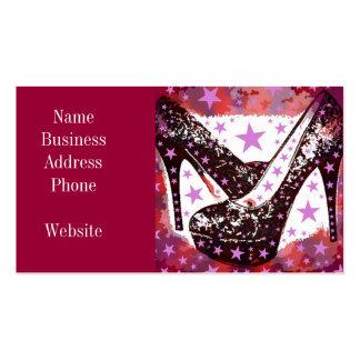 Estrellas púrpuras rosadas atractivas fabulosas de plantilla de tarjeta de visita