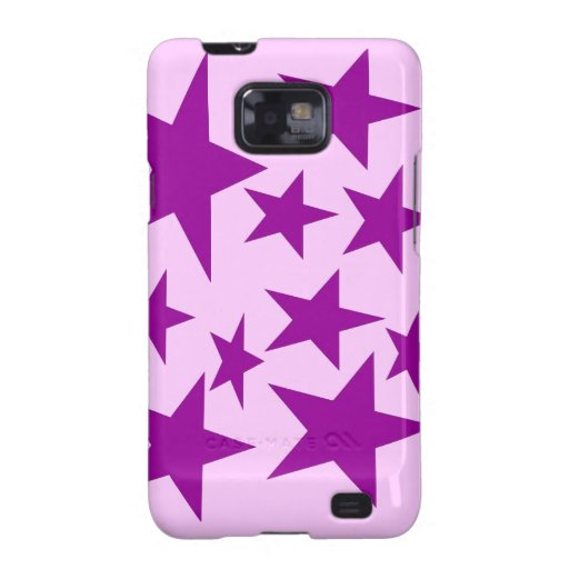estrellas púrpuras samsung galaxy s2 carcasa