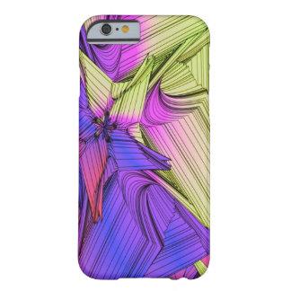 Estrellas púrpuras y amarillas del sumo funda de iPhone 6 barely there