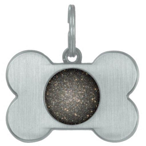 Estrellas que brillan placa de mascota