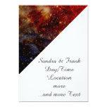 estrellas que caen abajo, abstracto invitacion personalizada