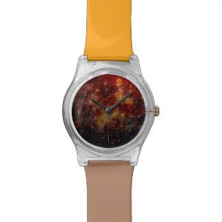 estrellas que caen abajo, abstracto reloj de mano
