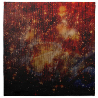 estrellas que caen abajo abstracto servilleta