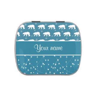Estrellas que centellean de los osos polares frascos de caramelos