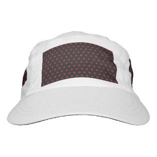 Estrellas relucientes del rojo en negro gorra de alto rendimiento