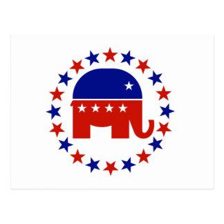 Estrellas republicanas orgullosas del círculo tarjetas postales