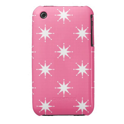 Estrellas retras adaptables iPhone 3 Case-Mate cárcasas