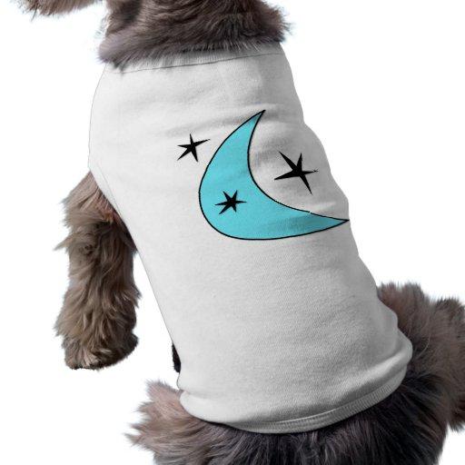 Estrellas retras del bumerán playera sin mangas para perro