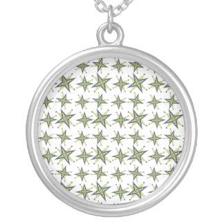 Estrellas retras verdes pendientes personalizados