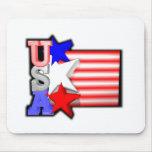 Estrellas rojas, blancas y azules de los E.E.U.U.  Tapete De Ratón