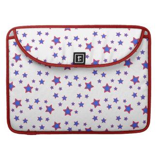 Estrellas rojas, blancas, y azules funda para macbook pro