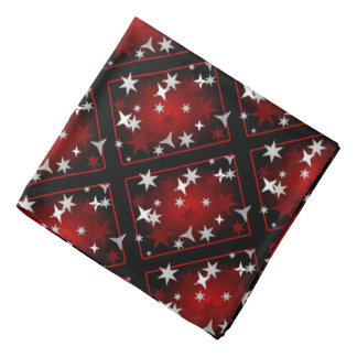 Estrellas rojas de la plata bandanas