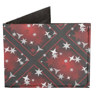 Estrellas rojas de la plata billeteras tyvek®