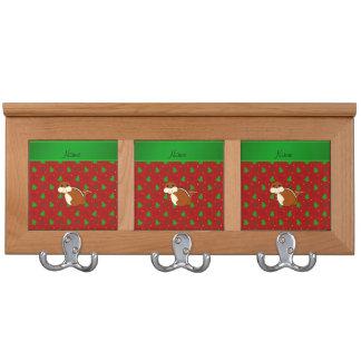 Estrellas rojas de los árboles de navidad del