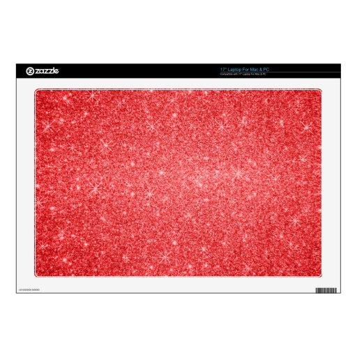 Estrellas rojas del brillo portátil calcomanía