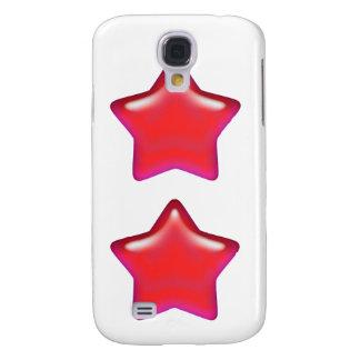 Estrellas rojas del caso del iPhone 3 del amor