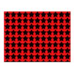 Estrellas rojas y negras punkyes postal