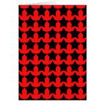 Estrellas rojas y negras punkyes tarjetón