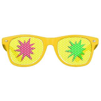 Estrellas rojas y verdes del salpicón gafas de fiesta