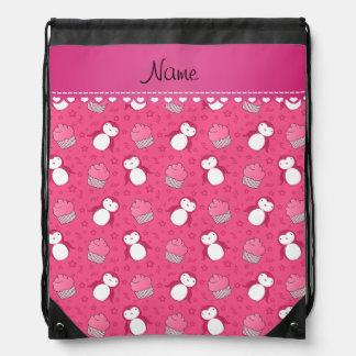 Estrellas rosadas conocidas personalizadas de las mochilas