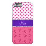 Estrellas rosadas conocidas personalizadas del funda de iPhone 6 barely there