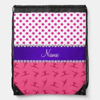Estrellas rosadas conocidas personalizadas del mochilas
