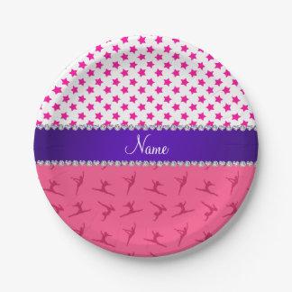 Estrellas rosadas conocidas personalizadas del plato de papel 17,78 cm