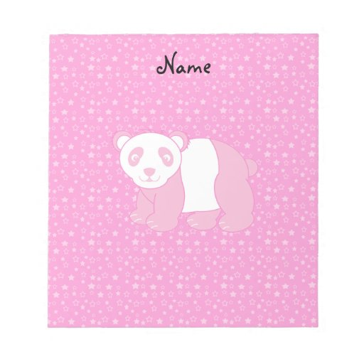 Estrellas rosadas conocidas personalizadas del ros blocs de papel