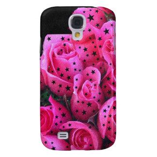 Estrellas rosadas de los rosas funda para galaxy s4