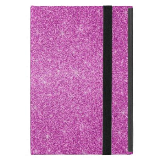Estrellas rosadas del brillo iPad mini protector