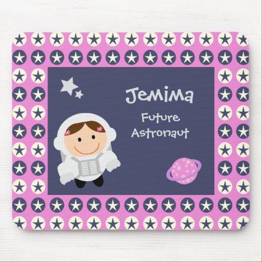 Estrellas rosadas y azules Spacegirl Mouse Pad